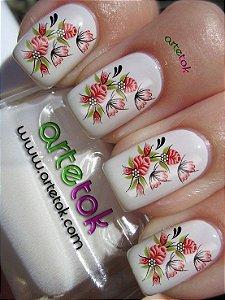 Adesivos de unhas floral delicado
