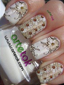 Adesivos de unhas floral casadinha