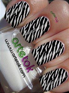Adessivos de unhas zebrinha