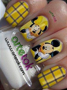 Adesivos de unhas do Mickey e Minnie