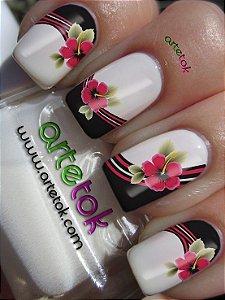 Adesivos de unhas floral