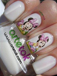 Adesivos de unhas da Minnie
