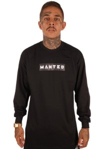Camiseta Wanted Manga Longa - Box Logo