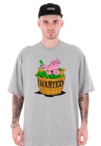 Camiseta Wanted - Pig Hustlin