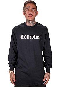 Camiseta Wanted Manga Longa - Compton