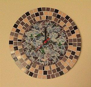 Relógio Mosaico Hortência