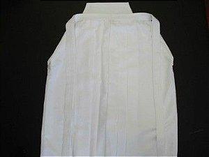 Hakama Kendô - 100 % POLIÉSTER - Sob Medida - Cor: Branco