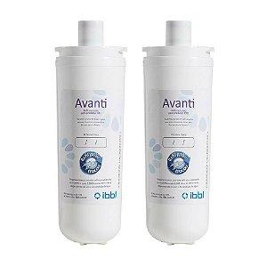 kit com 2 Filtros Refil Avanti para Purificador de Água IBBL - Avanti e Mio (Original)