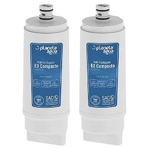 Kit com 2 Filtros Refil E3 Compacto para Purificador de Água IBBL – Avanti e Mio (Similar)