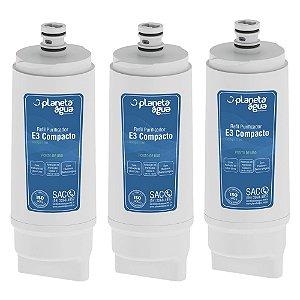 kit com 3 Filtros Refil E3 Compacto para Purificador de Água IBBL – Avanti e Mio (Similar)