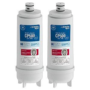 Kit com 2 Filtros Refil CP500 para Purificador de Água Master Frio – Rótulo Azul (Certificado)