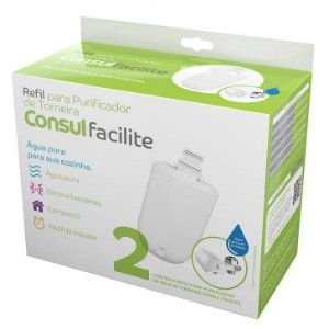 Filtro Refil CIX05AX para Purificador de Água Torneira Facilite Consul – Pack com 02 (Original)