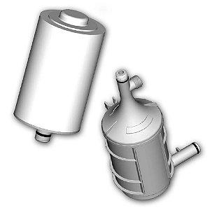 KIT - 02 Refis Purificação e Filtragem Melt Blown RP-01 e RF-01 Para Purificador Naturalis - Lorenzetti (Original)