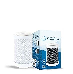 Refil Carbon Block Para Filtro 5'' Com TNT/Sem Rosca - 1019