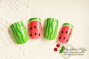 Unhas de melancia