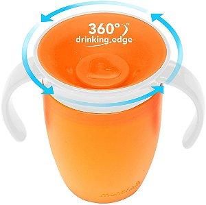 Copo de Treinamento Munchkin 360º, cor laranja, capacidade 207ml