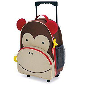 Mala de rodinhas infantil Skip Hop Zoo, tema Macaco