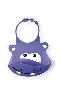 Babador De Silicone Hipopótamo - Multikids - BB044