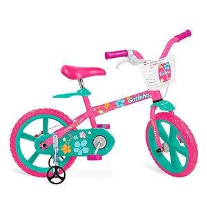 Bicicleta 14'' Gatinha Bandeirante - 3012