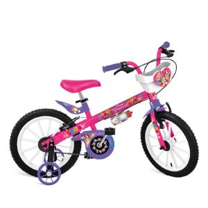 "Bicicleta 16"" Princesas Disney Cestinha Bandeirante - 2399"