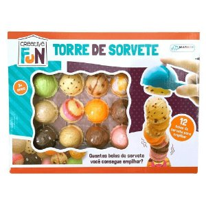 Brinquedo Creative Fun Torre De Sorvete Multikids - BR645