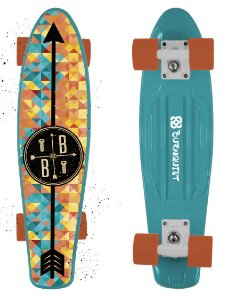 Skate Mini Cruiser Bob Burnquist Azul Atrio - ES093