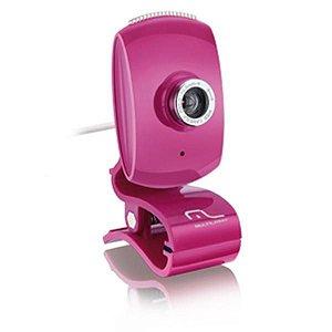 WebCam Multilaser Plug Play Pink - WC048