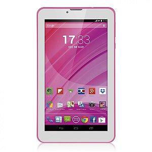 Tablet Rosa M7 3G Quad Core Câmera Wi-Fi Tela Hd 7' Memóri