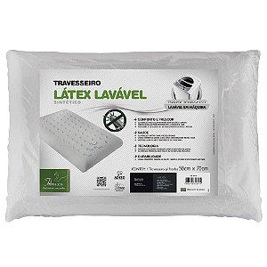 Travesseiro Látex Plus Sintético Lavável em Malha 50 x 70