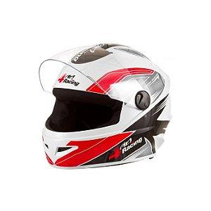Capacete 4 Racing (+ Viseira Cromada) Vermelho/Cinza   60 Pr