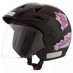Capacete Atomic Thunder For Girls Preto   60 Pro Tork - CAP-