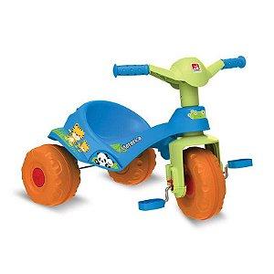 Triciclo Mototico Andador & Pedal Azul Bandeirante