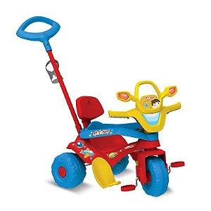 Triciclo Motoban 3 em 1 Passeio + Andador + Pedal Vermelho B