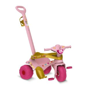 Triciclo Velocipe Passeio & Pedal Princesa Disney Bandeirant