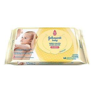 Toalinhas Umedecidas Johnsons Baby Recém-Nascido 48 Unidade