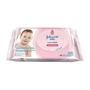 Toalinhas Umedecidas Johnson's Baby Extra Cuidado 48 Unidade