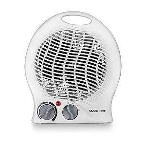 Aquecedor elétrico 2 em 1 aquece e ventila 1500W Branco 127