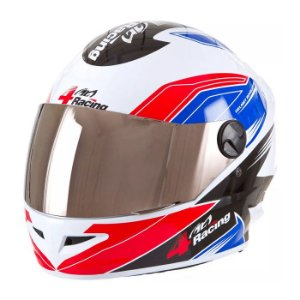 Capacete 4 Racing (+ Viseira Cromada) Vermelho/Azul   56 Pro