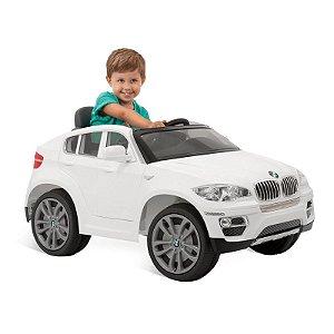 Carro Elétrico BMW X6 Branca R/C 6V - Brinquedos Bandeirant