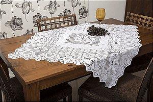 Toalha Quadrada Branca - Arabesco 1m X 1m -  Interlar - 1358