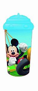 Copo Com Canudo De Silicone 300ml Mickey - Multikids -  BB08