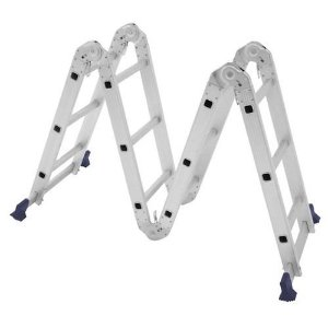 Escada Multifuncional 4 x 3 12 Degraus - Mor - 5131