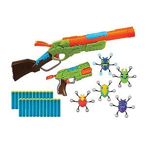 Lançadores de Dardo Bug Attack Value Pack 24 Dardos Candide