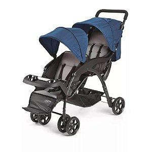 Carrinho de Passeio para Gêmeos Duos Azul Multikids Baby -