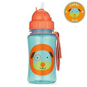 Garrafinha infantil, com canudo, Skip Hop Zoo, tema Cachorro