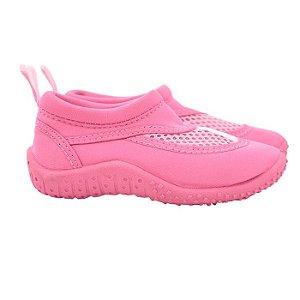 Sapato infantil de verão, em neoprene, da Iplay, cor rosa