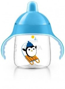 Copo Pinguim 260ml, cor azul, Philips Avent