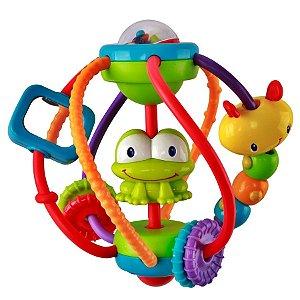 Bola de Atividades Clack & Slide, da Bright Starts, para idade a partir de 3 meses