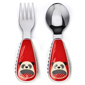 Conjunto com 2 talheres (colher e garfo), Skip Hop Zoo, tema Panda