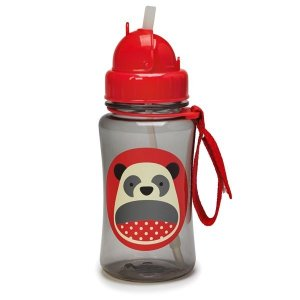 Garrafinha infantil, com canudo, Skip Hop Zoo, tema Panda